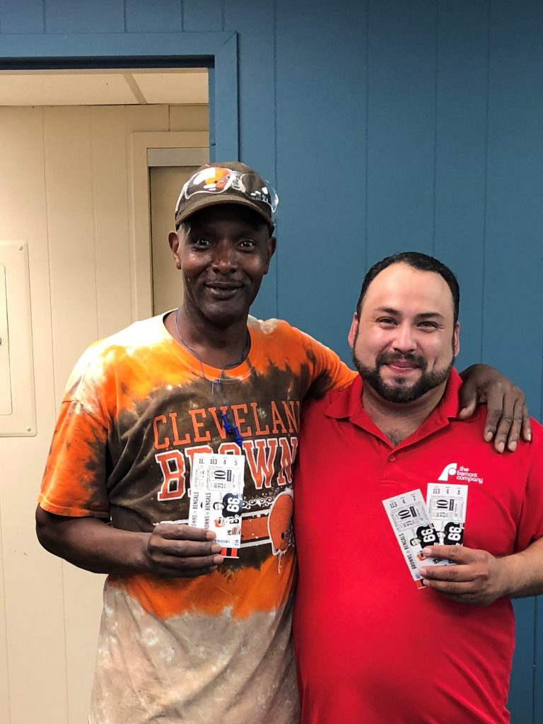 George Jr wins Browns Tickets